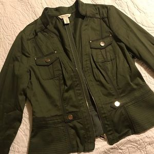 White House Black Market Dark Green Jacket